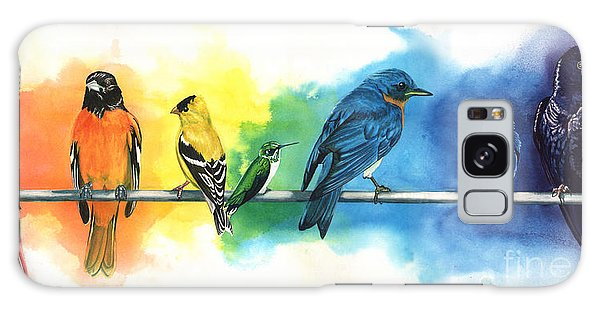 Bluebird Galaxy Case - Rainbow Birds by Do'an Prajna - Antony Galbraith
