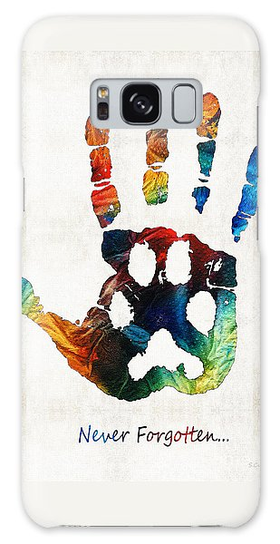 Rainbow Bridge Art - Never Forgotten - By Sharon Cummings Galaxy Case