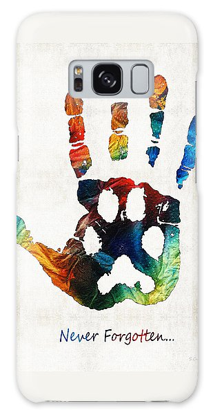 Rainbow Bridge Art - Never Forgotten - By Sharon Cummings Galaxy Case by Sharon Cummings