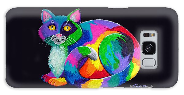Rainbow Calico Galaxy Case by Nick Gustafson