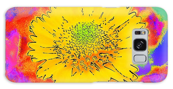 Rainbow Colored Sunshine Flower- Because I'm Happy Galaxy Case by David Mckinney