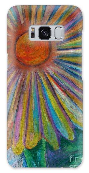 Rainbow Daisies Galaxy Case
