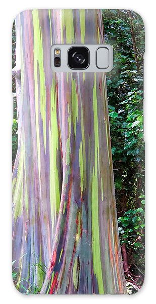 Rainbow Eucalyptus 3 Galaxy Case by Dawn Eshelman