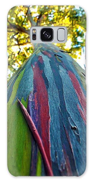 Rainbow Eucalyptus Galaxy Case by Mitch Cat