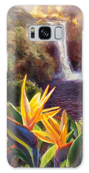Rainbow Falls Big Island Hawaii Waterfall  Galaxy Case