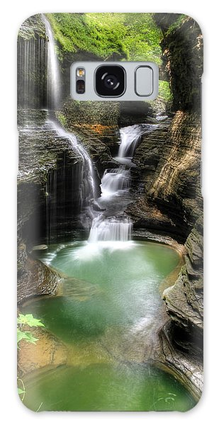 Rainbow Falls Galaxy Case by Lori Deiter