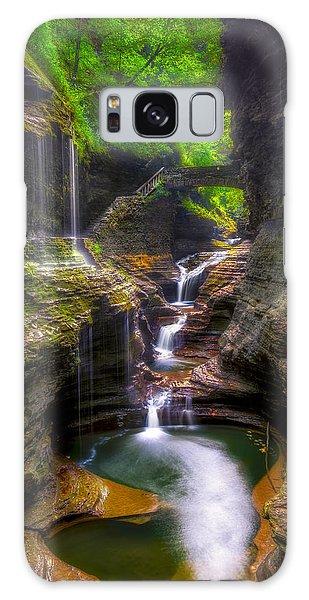 Rainbow Falls Of Watkins Glen Galaxy Case