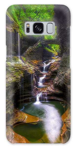 Rainbow Falls Of Watkins Glen Galaxy Case