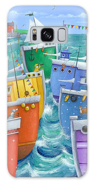Boat Galaxy S8 Case - Rainbow Flotilla by Peter Adderley