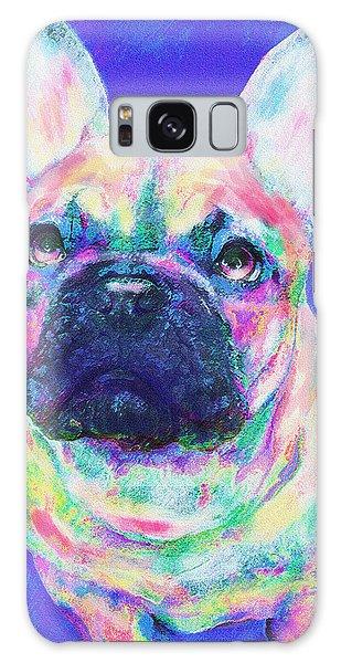 Rainbow French Bulldog Galaxy Case by Jane Schnetlage