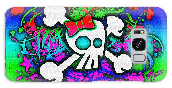 Rainbow Girly Skull And Crossbones Galaxy Case