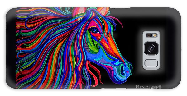 Rainbow Horse Head Galaxy Case by Nick Gustafson