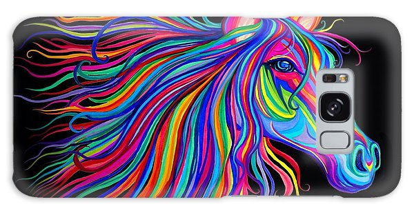 Rainbow Horse Too Galaxy Case