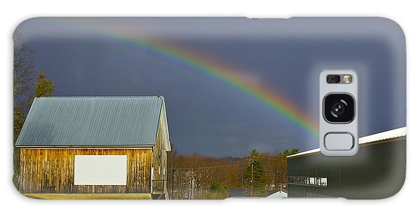 Rainbow In Maine Galaxy Case
