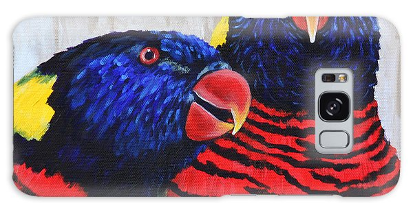Rainbow Lorikeets Galaxy Case