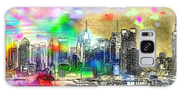 Rainbow Nyc Skyline Galaxy Case by Daniel Janda