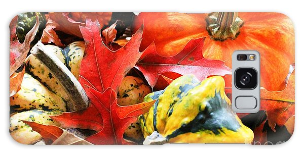 Rainbow Of Autumn Colors Galaxy Case by Judy Palkimas