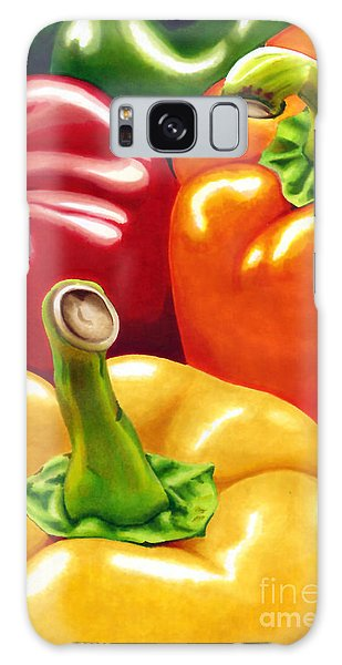 Rainbow Of Peppers Galaxy Case