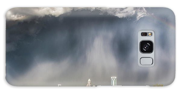 Weathered Galaxy Case - Rainbow Over Charlotte by Chris Austin