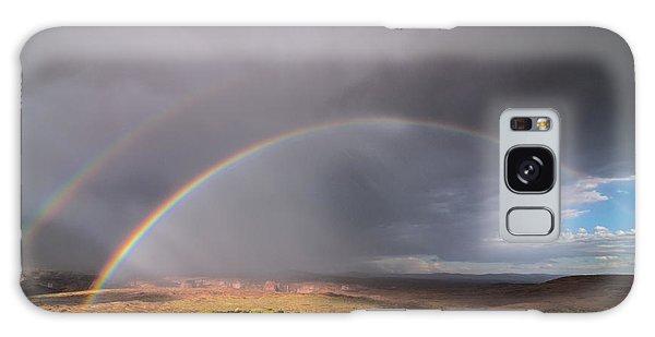 Rainbow Over Desert Galaxy Case by Michael J Bauer