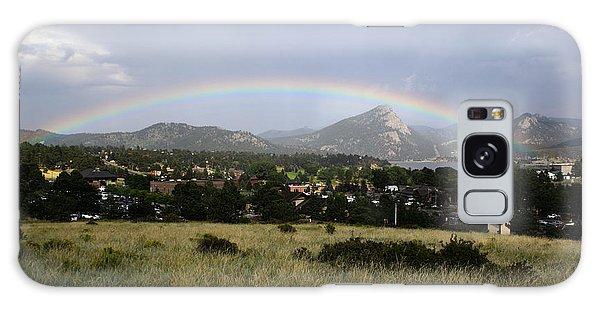 Rainbow Over Lake Estes Galaxy Case