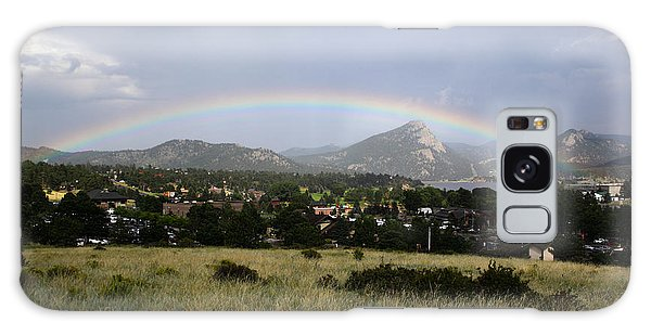 Rainbow Over Lake Estes Galaxy Case