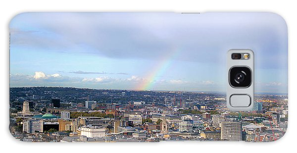 Rainbow Over London Galaxy Case by Melissa Petrey
