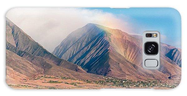Rainbow Over Maui Mountains   Galaxy Case