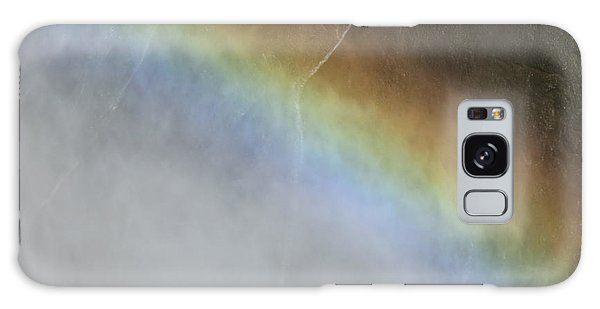 Rainbow Over The Falls Galaxy Case by Laurel Powell
