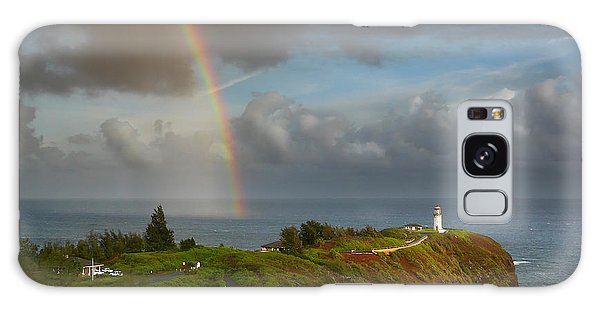 Rainbow Over Kilauea Lighthouse On Kauai Galaxy Case by IPics Photography