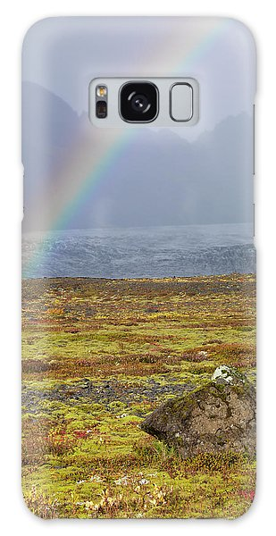 Ecosystem Galaxy Case - Rainbow Over Tundra With Wild Flowers by Tom Norring