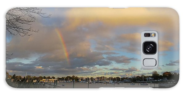 Rainbow Over Wickford Galaxy Case