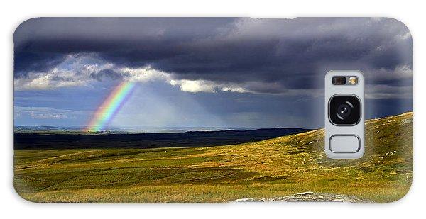 Rainbow Over Yorkshire Moors - Tann Hill Galaxy Case