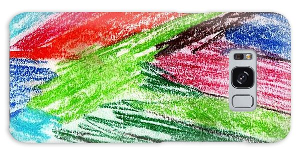Rainbow Paintbrush Galaxy Case