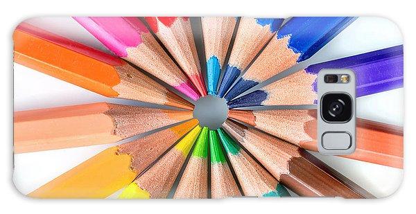 School Galaxy Case - Rainbow Pencils by Delphimages Photo Creations