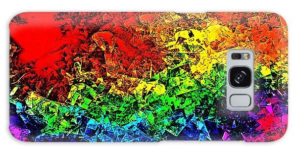 Rainbow Pieces Galaxy Case by Bartz Johnson