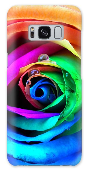 Rainbow Rose Galaxy Case