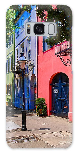 Rainbow Row Charleston Galaxy Case