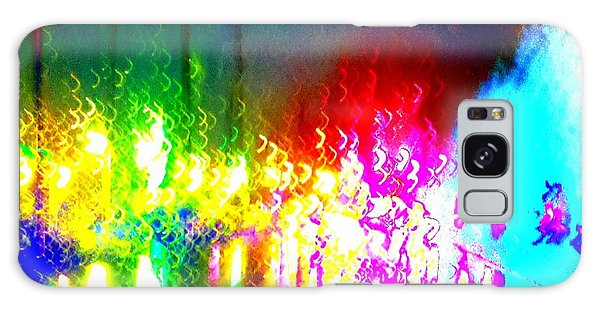 Rainbow Splash Abstract Galaxy Case by Marianne Dow