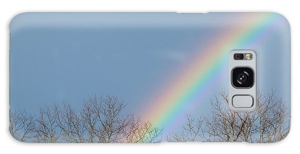 Galaxy Case featuring the photograph Rainbow Through The Tree Tops by Kristen Fox