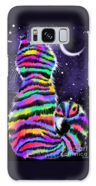 Rainbow Tiger Cat Galaxy Case
