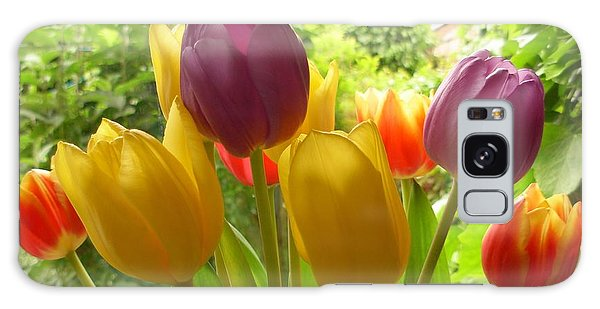 Rainbow Tulips  Galaxy Case