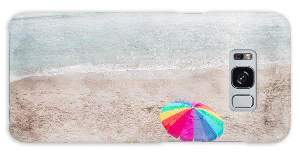 Rainbow Umbrella On Beach Galaxy Case