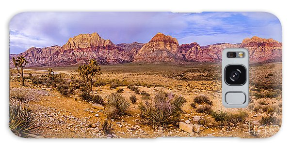 Rainbow Wilderness Panorama At Red Rock Canyon Before Sunrise - Las Vegas Nevada Galaxy Case