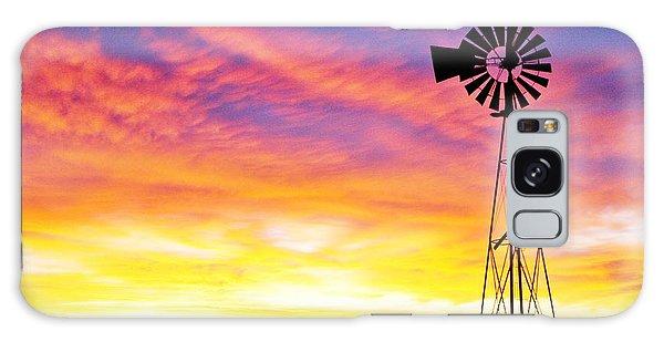 Rainbow Windmill Galaxy Case by Shirley Heier