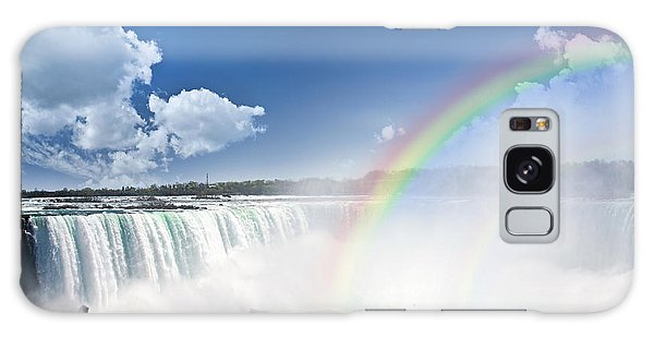 Rainbows At Niagara Falls Galaxy Case