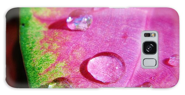 Raindrop On The Leaf Galaxy Case
