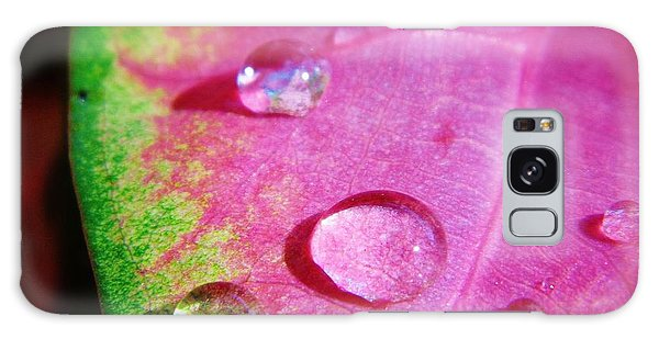 Raindrop On The Leaf Galaxy Case by D Hackett