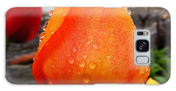 Raindrop Tulip Galaxy Case by Karen Horn
