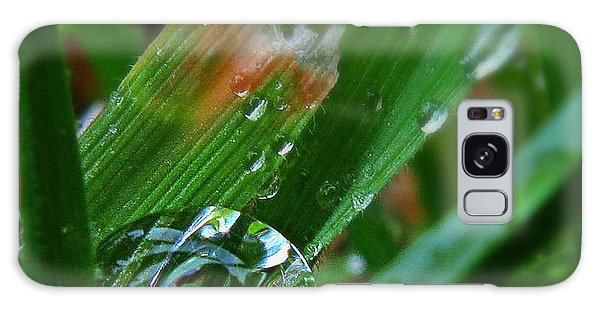 Raindrop In The Grass Galaxy Case